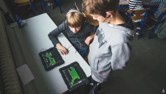 Strøm til Børn - foto fra undervisningsforløb