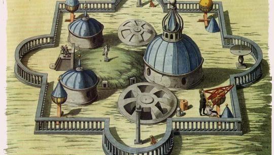 Tycho Brahes Stjerneborg, antik tegning