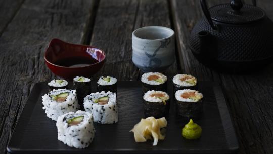 Sushi ; madkursus; nysgerrig; ris; mad ; skoleforløb